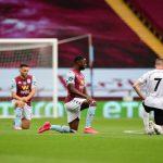 پریمیر لیگ کی واپسی پر کھلاڑیوں نے نسل پرستی کے خلاف احتجاج میں اپنا حصہ ڈالا