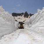 جون میں ترکی کے جنوب مشرقی صوبے حاکری میں برفباری