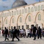 درجنوں یہودیوں کا مسجد اقصیٰ پر حملہ