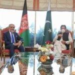 عبداللہ عبداللہ کی پاکستانی وزیر اعظم عمران خان سے ملاقات