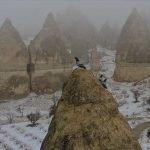 کیپاڈوکیا : فیری چیمنیز سردیوں میں سیاحوں کی توجہ کا مرکز