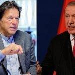 ترک صدر رجب طیب ایردوان  کا وزیر اعظم پاکستان عمران خان کو ٹیلیفون
