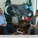 ترک سفیر کی پاک فضائیہ کے سربراہ ایئر مارشل ظہیر احمد بابر سندھو سے ملاقات