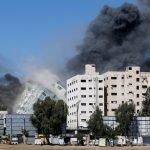 غزہ میں اسرائیل کی ساتویں روز بھی بمباری، شہدا کی تعداد 153 ہو گئی