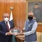 ترک پارلیمنٹ کے اسپیکر کی صدر پاکستان ڈاکٹر عارف علوی سے ملاقات