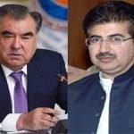 چیئرمین سینیٹ محمد صادق سنجرانی کی تاجکستان کے صدر امام علی رحمان سے ملاقات