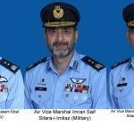 پاک فضائیہ کے تین ائیر آفیسرز کو ائیر وائس مارشل کے عہدوں پر ترقی دے دی گئی