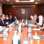 پاکستانی وزیر خارجہ  کی سعودی ہم منصب شہزادہ فیصل بن فرحان آل سعود سے اسلام آباد میں ملاقات