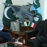 سربراہ پاک فضائیہ ایئر چیف مارشل ظہیر احمد بابر سدھو سے اٹلی کے سفیر کی ملاقات