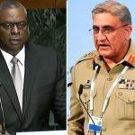 امریکہ پاکستان سے تعلقات میں بہتری چاہتا ہے، امریکی سیکریٹری دفاع کی آرمی چیف سے ٹیلی فونک گفتگو