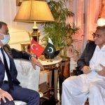 ترک وزیر خارجہ حلوسی آقار کی پاکستانی چیف آف آرمی سٹاف سے ملاقات